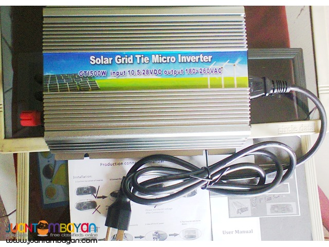 Solar Inverter 300Watt new plug in Mcro Grid Tied