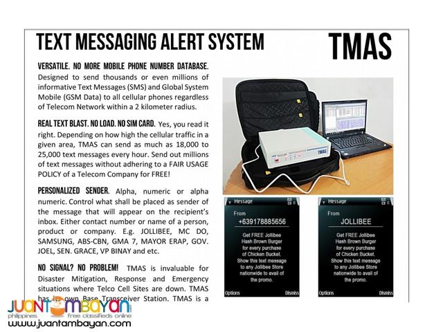 TMAS (Text Message Alert System)