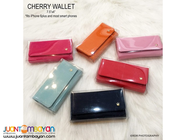 Mint Cute and Classy Cherry Long Smart Wallets