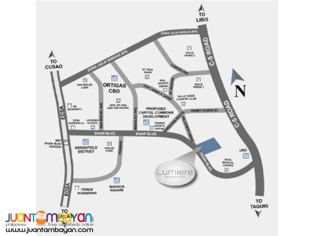 Affordable Condo in Pasig nr Ortigas CBD Lumiere Residences