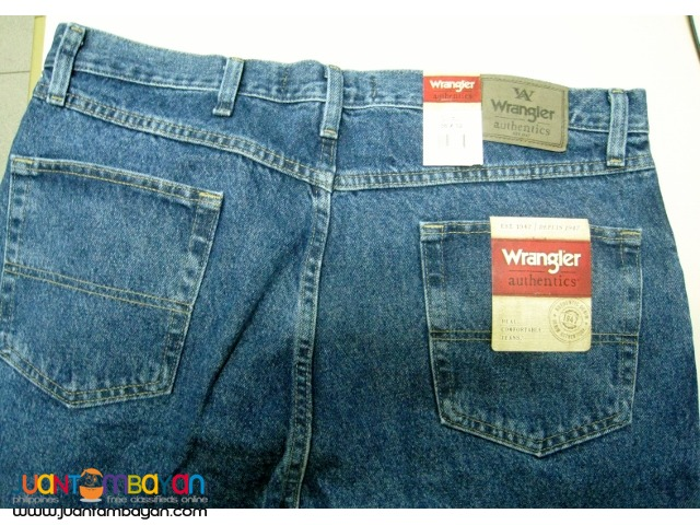 Wrangler Men's Authentics Classic Regular Fit Jean, Stonewash Dark