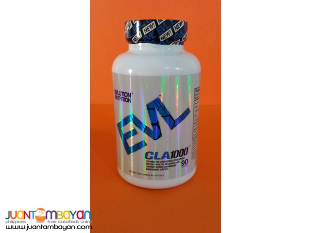 EVL CLA 1000 from Evlution Nutrition 1000mg 90 softgels Free ship