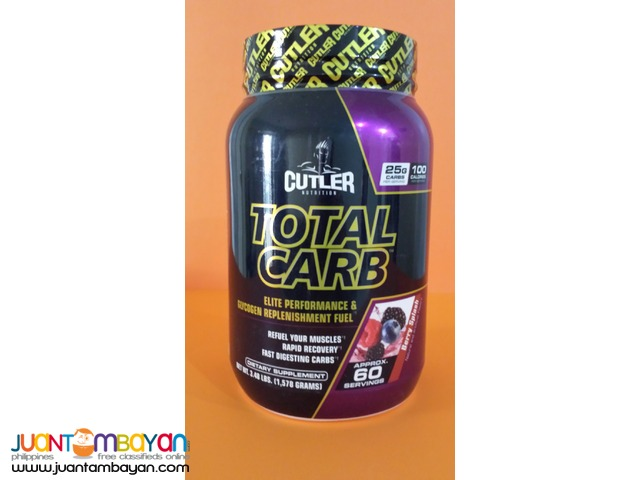 Total Carb Glycogen replacement  Cutler Nutrition 3,7 lb 60s