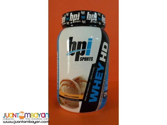 BPI Sports whey HD Whey protein 2 lb Vanilla caramel