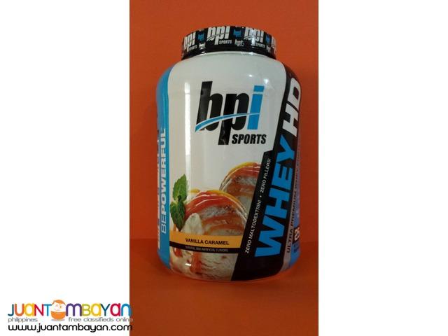 BPI Sports whey HD Whey protein 4.5 lb Vanilla caramel