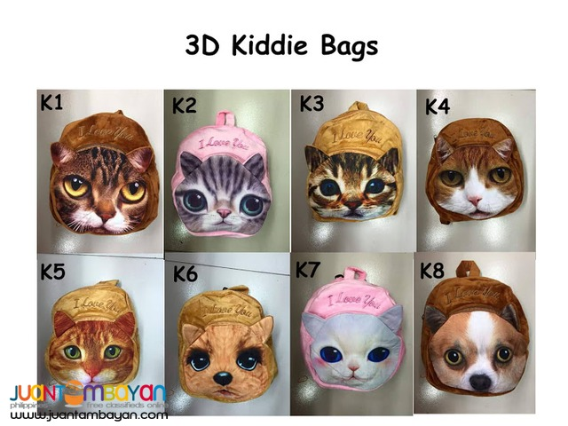 3D Kiddie Backpacks