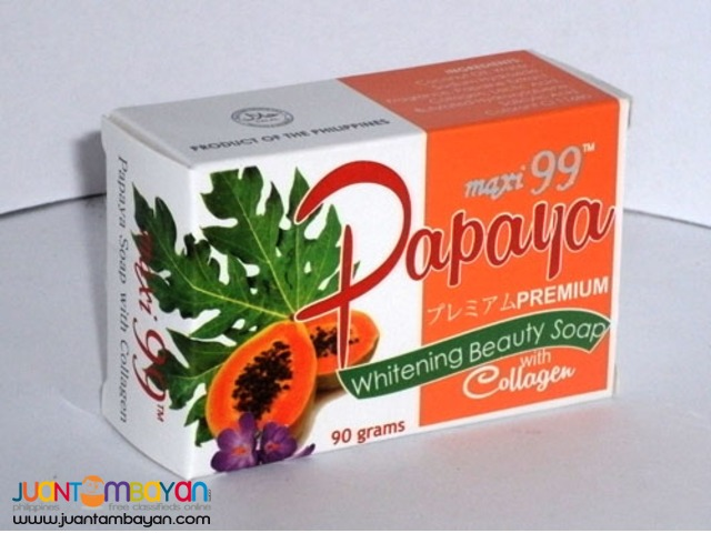 Papaya Whitening Beauty Soap with Collagen