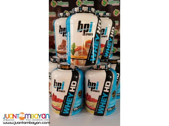 BPI Sports:Whey-HD Whey protein 4.5lb  Vanilla caramel,