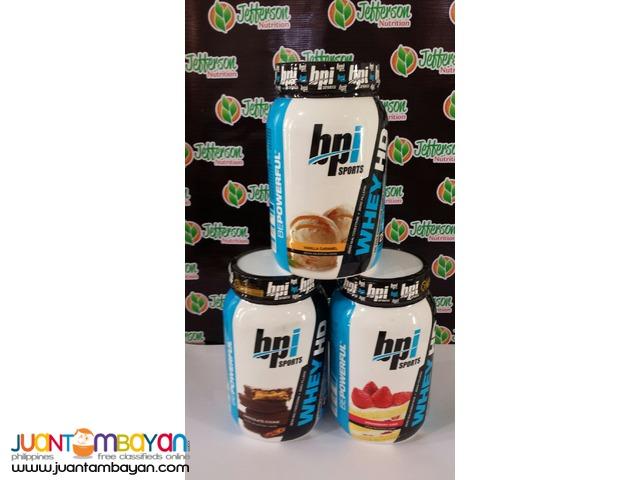 BPI Sports:  Whey-HD Whey protein 2 lb Vanilla caramel