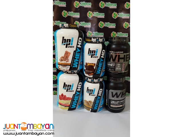 Assorted Whey Proteins with assorted flavors 2 & 5 lb