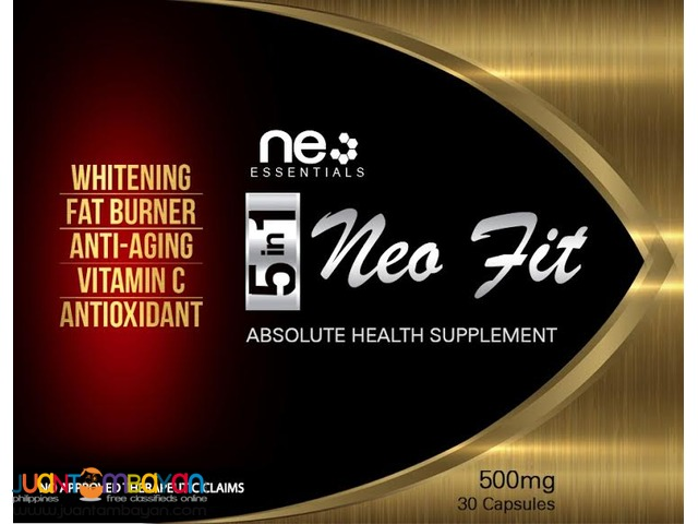 Food Supplement: 5in1  Whitening, Fat burner, Anti-aging