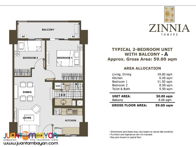 Zinnia Towers Condominium Condo in Munoz Quezon City North EDSA Manila