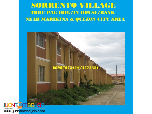 5K 2 Storey House thru Pag-Ibig-near Marikina and QC