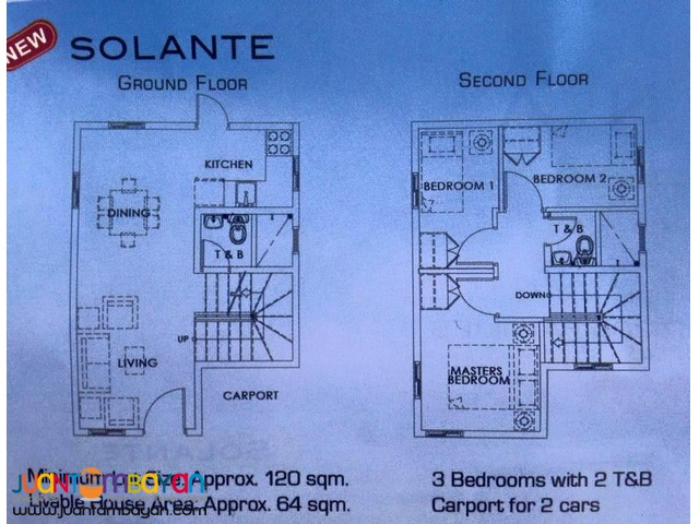 House and Lot in Bacoor Soluna Subdivision in Molino Blvd near Manila