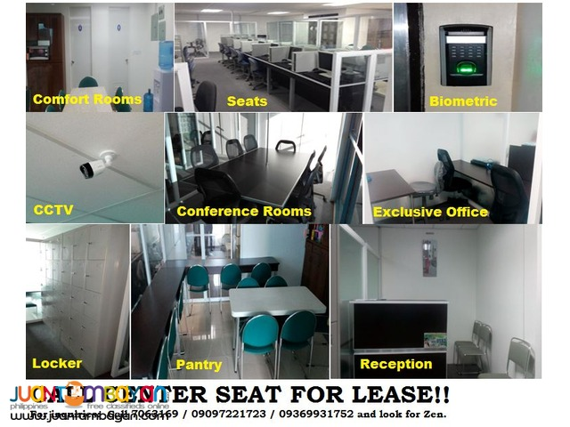 NEWLY BUILT Call Center Seat for Lease