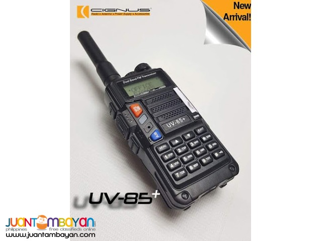 Portable two way hand held Cignus radio UV-85+ PLUS (New Model)