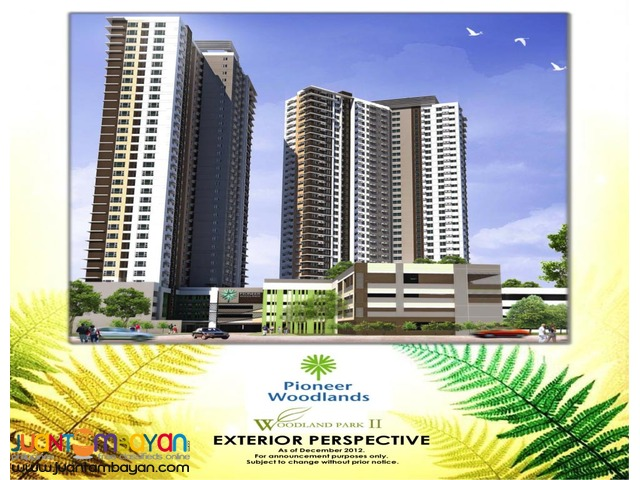 2 Bedroom Condo Units For Sale in Mandaluyong PIONEER WOODLANDS