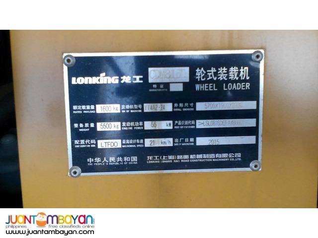 brand new Lonking Wheel Loader CDM816D for sale