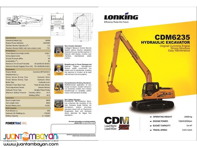BRAND NEW CDM6235 Hydraulic Excavator (Long arm)