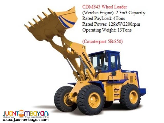 BRAND NEW CDM843 Wheel Loader