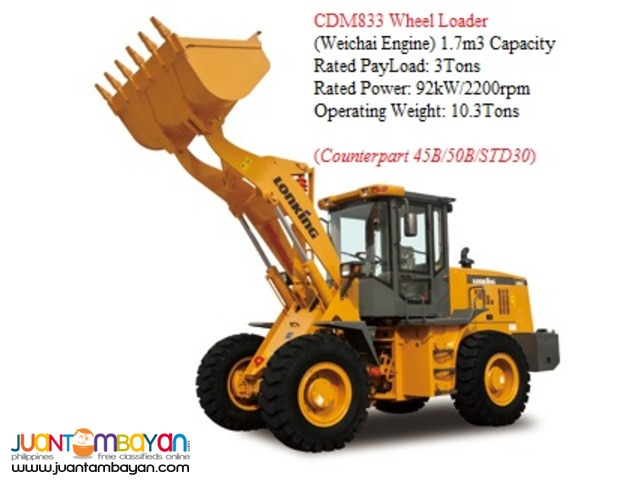 BRAND NEW CDM833 Wheel Loader