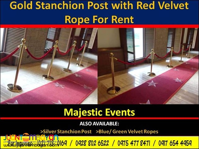 Gold Stanchion Post For Rent