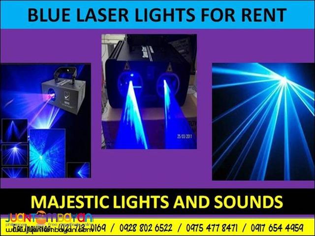 Blue Laser Lights For Rent