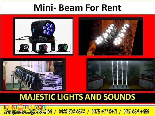 Mini Beam Lights For Rent