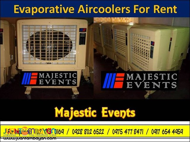 Evaporative Aircoolers for Rent