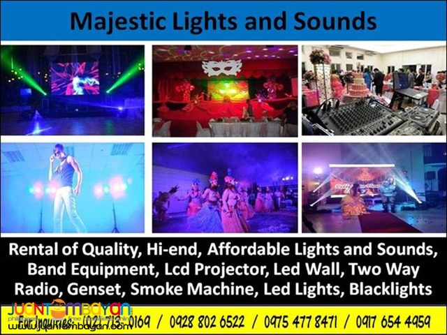 Basic Lighhts and Sounds for Rent