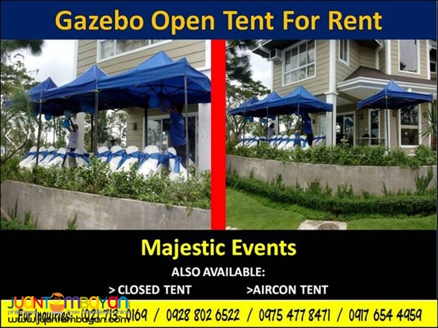 Gazebo Open Tent for Rent