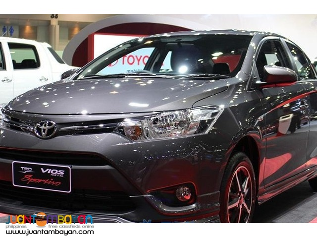 2016 Vios E manual 30K downpayment ALL IN PROMO