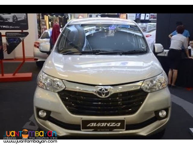 2016 avanza E automatic 90K downpayment lowdown promo