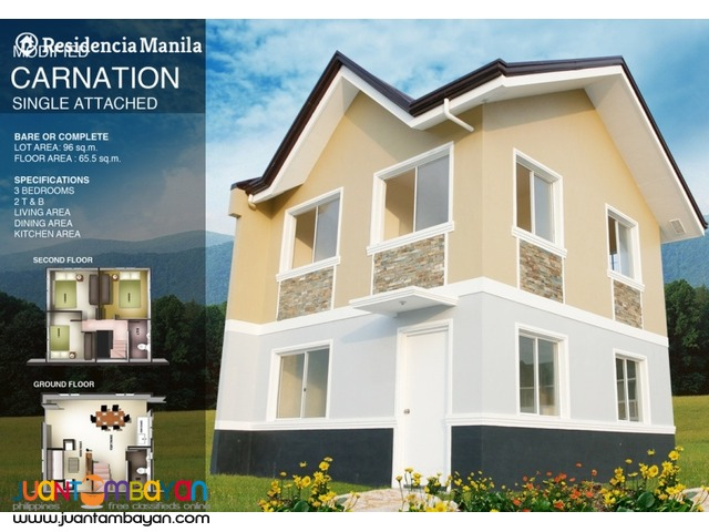 Single attached with 3 BR and 2 T&B in Dasmarinas