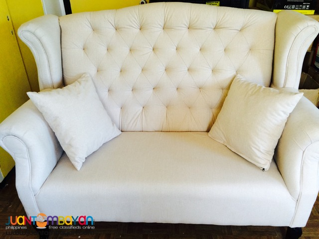 Benhur 2-Seater Event Couch For Rent (Cream)