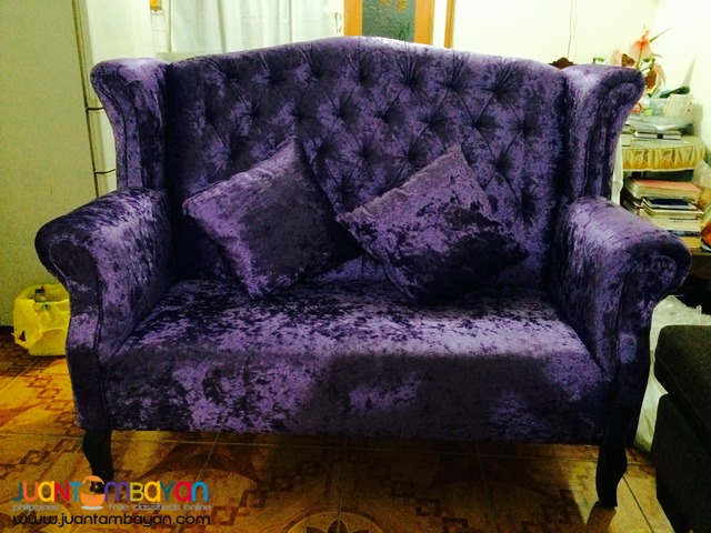 Benhur 2-Seater Event Couch For Rent (Purple)