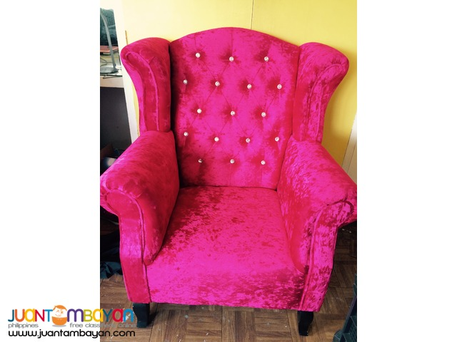 2pcs Juliet Debutante Event Couch Rental Promo (1 seater)