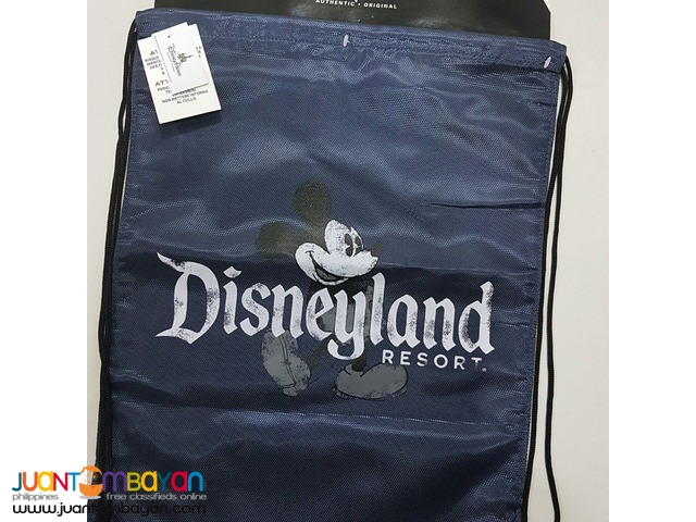 Bnwt Authentic Disney Parks Mickey Mouse Cinch Drawstring Backpack Bag
