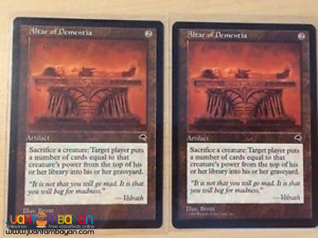 Altar of Dementia (Magic the Gathering Trading Card Game)