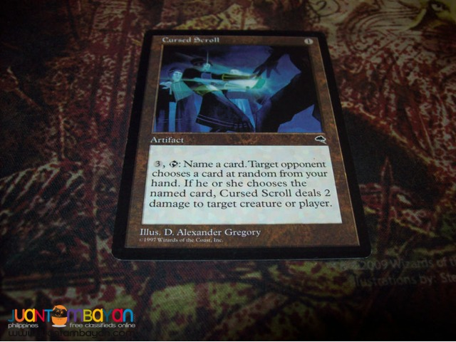 Cursed Scroll (Magic the Gathering Trading Card Game)