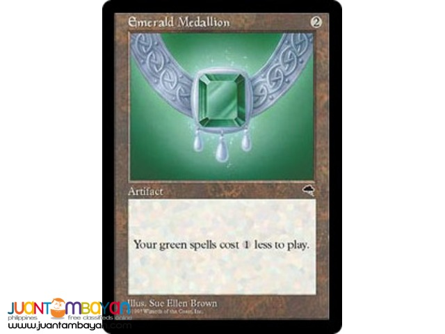 Emerald Medallion (Magic the Gathering Trading Card Game)