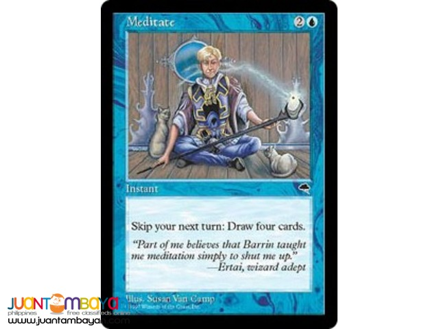 Meditate (Magic the Gathering Trading Card Game)