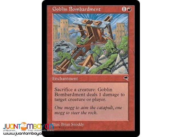 Goblin Bombardment (Magic the Gathering Trading Card Game)