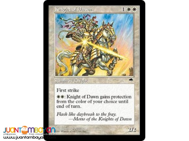 Knight of Dawn (Magic the Gathering Trading Card Game)