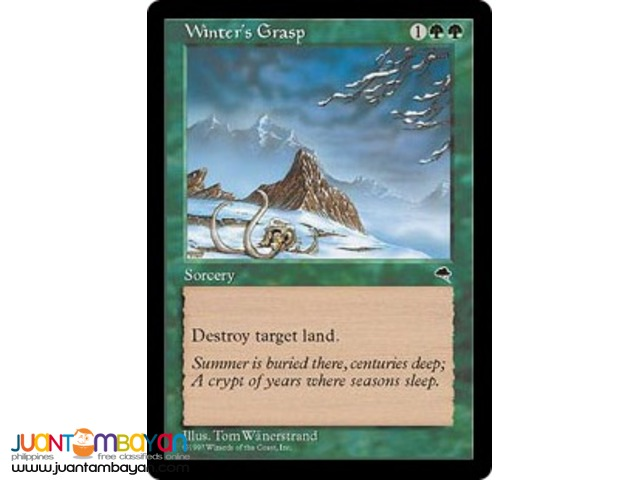 Winter's Grasp (Magic the Gathering Trading Card Game)