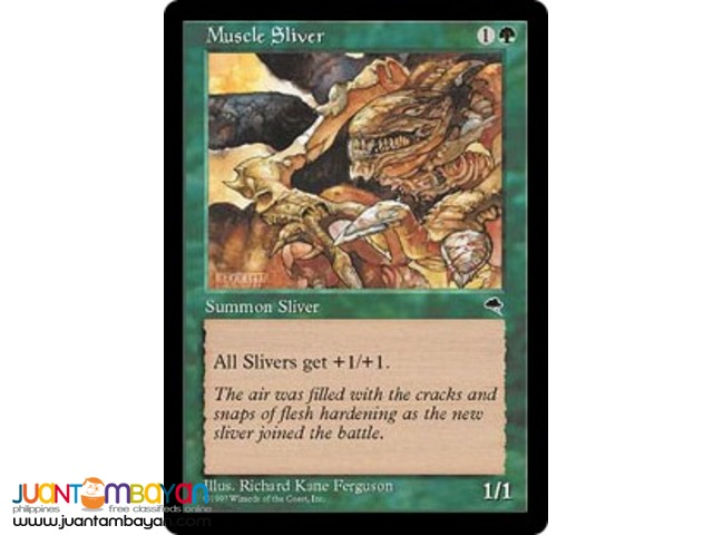 Muscle Sliver (Magic the Gathering Trading Card Game)
