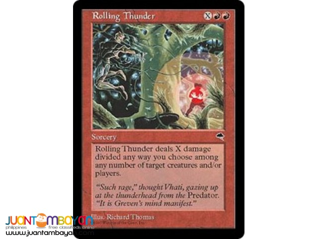 Rolling Thunder (Magic the Gathering Trading Card Game)