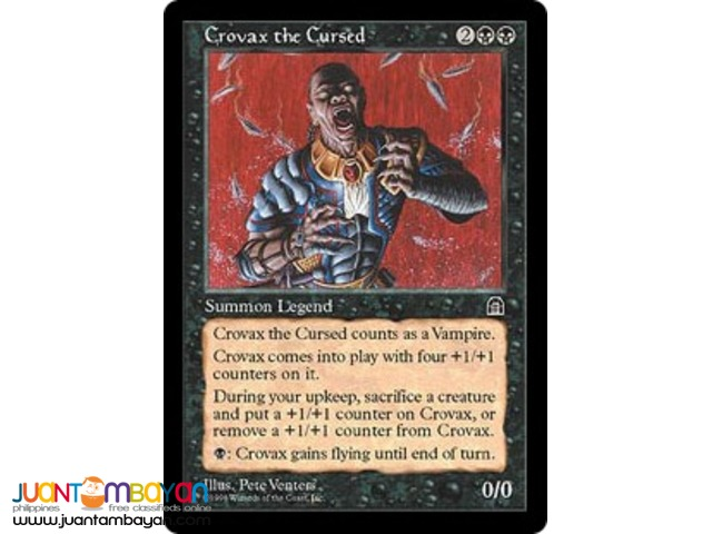 Crovax the Cursed (Magic the Gathering Trading Card Game)