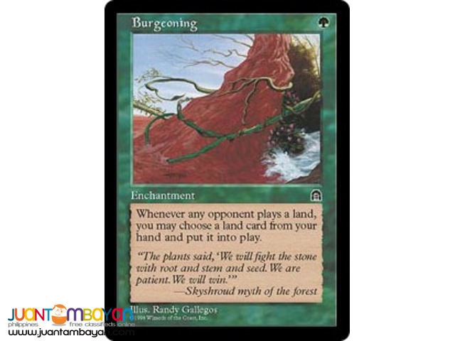 Burgeoning (Magic the Gathering Trading Card Game)
