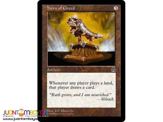 Horn of Greed (Magic the Gathering Trading Card Game)